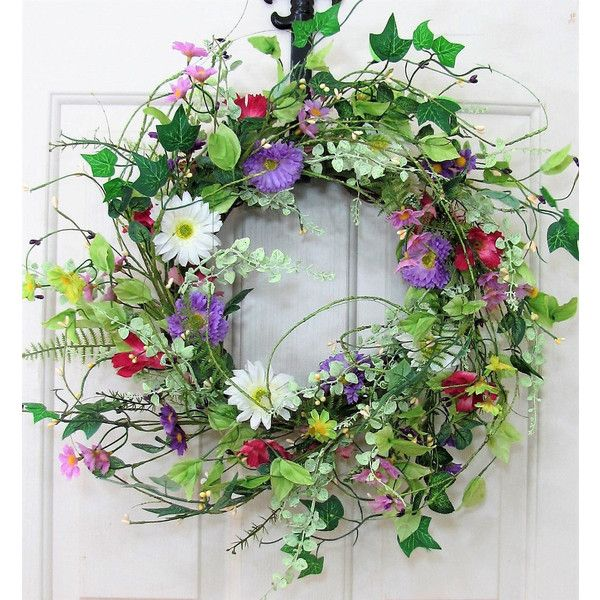 Spring Wreath   Spring Floral Wreath   Spring Door Decor   Farmhouse Wreath    Easter Wreath   Every Day Wreath   Front Door Wreath By Designawreath On  Etsy Awesome Ideas