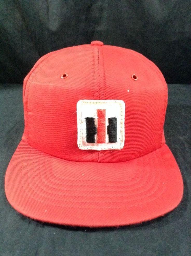 Vintage International Harvester Hat Ih Snapback Red