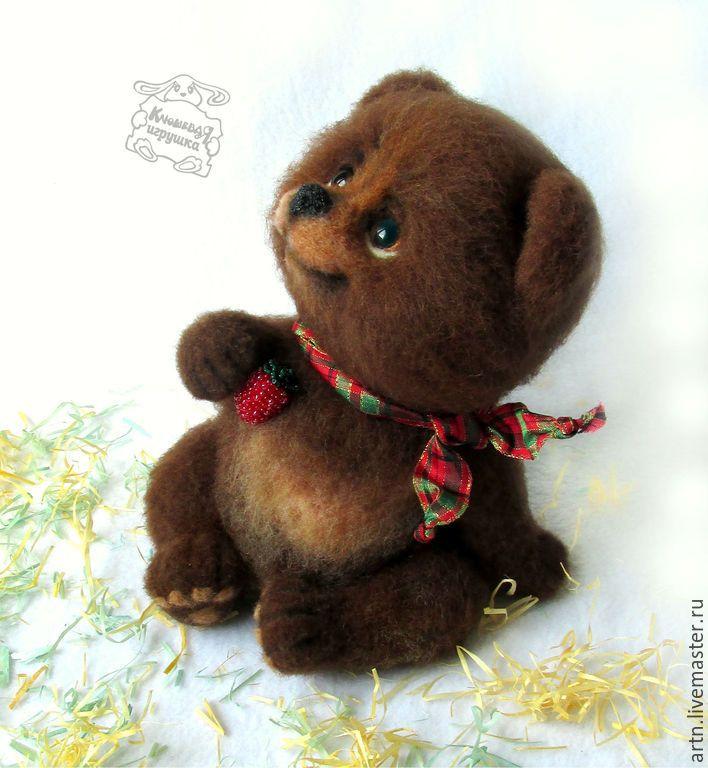 возможность разгружать игрушки из шерсти валяние животные картинки медведь двух сторон арки