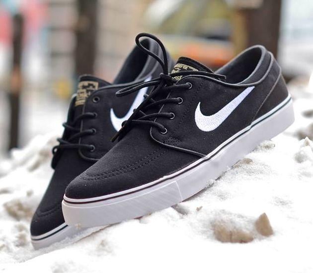 huge discount c342e 5785e Nike SB Stefan Janoski Low CNVS – Black White .