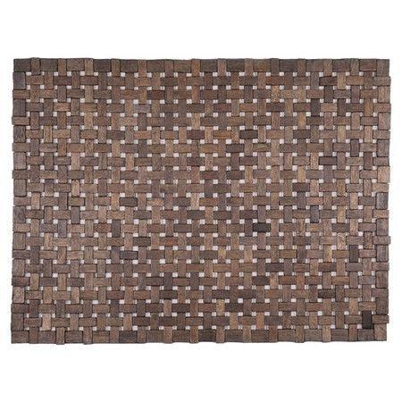 Crafted of exotic wood, this woven mat adds an elegant touch to any home.   Product: DoormatConstruction Material: ...