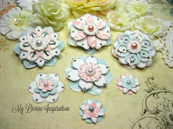 Teresa Collins Sweet Afternoon Handmade Paper Flowers, Paper Embellishments for…