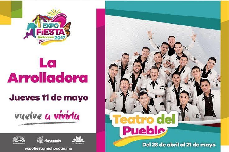 El concierto de la banda sinaloense, a las 21:00 horas en el Teatro del Pueblo; a las 19:00 será transmitido el partido Monarcas-Xolos en las instalaciones del Recinto Ferial – ...
