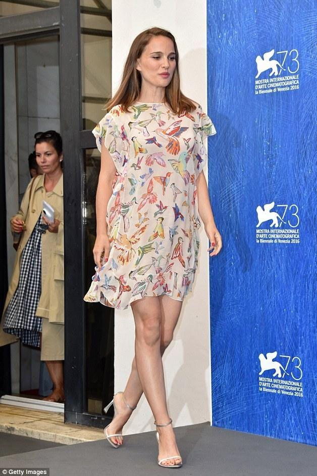Natalie Portman wearing Red Valentino Resort 2017 Dress