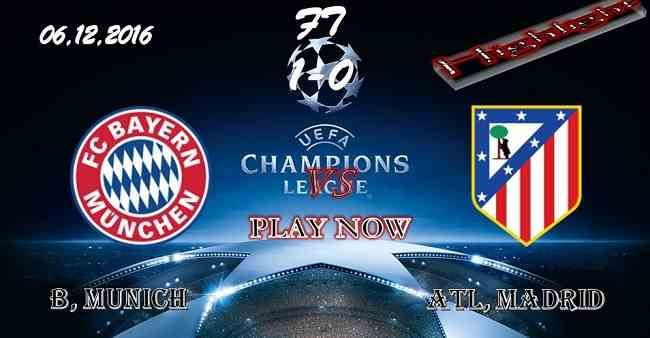 Bayern Munich 1 - 0 Atletico Madrid 06.12.2016 HIGHLIGHTS - PPsoccer