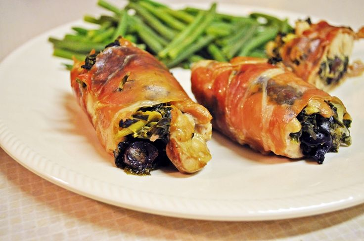Greek Stuffed Proscuitto Wrapped Chicken Thighs