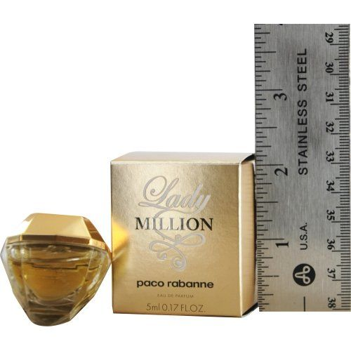 Lady Million by Paco Rabanne 0.17 oz Eau de Parfum Miniature Collectible by Unknown. Lady Million Paco Rabanne 0.17 oz Eau de Parfum Miniature. Lady Million Paco Rabanne Eau de Parfum Miniature.