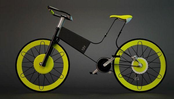 Dynamic wheels: Futuristic Electric Bike that explores form factor