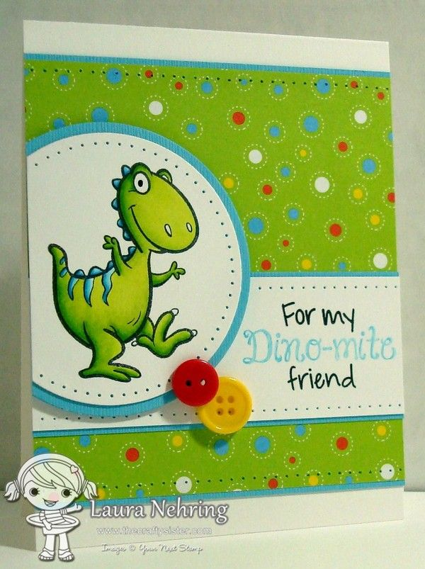 Your Next Stamp Februaury 2015 New Release - Dino-mite clear stamp set