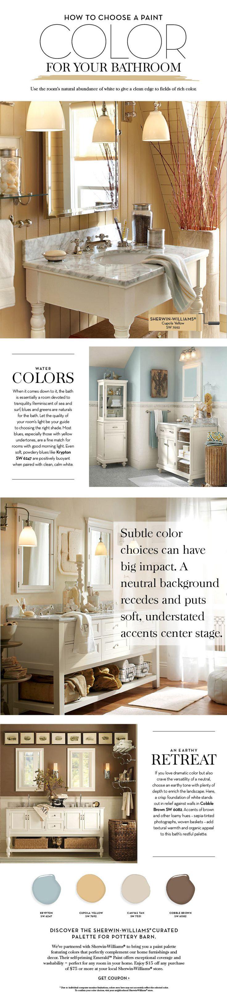Pottery barn bathroom paint colors - Choose A Paint Color For Your Bathroom Pottery Barn Love The Color