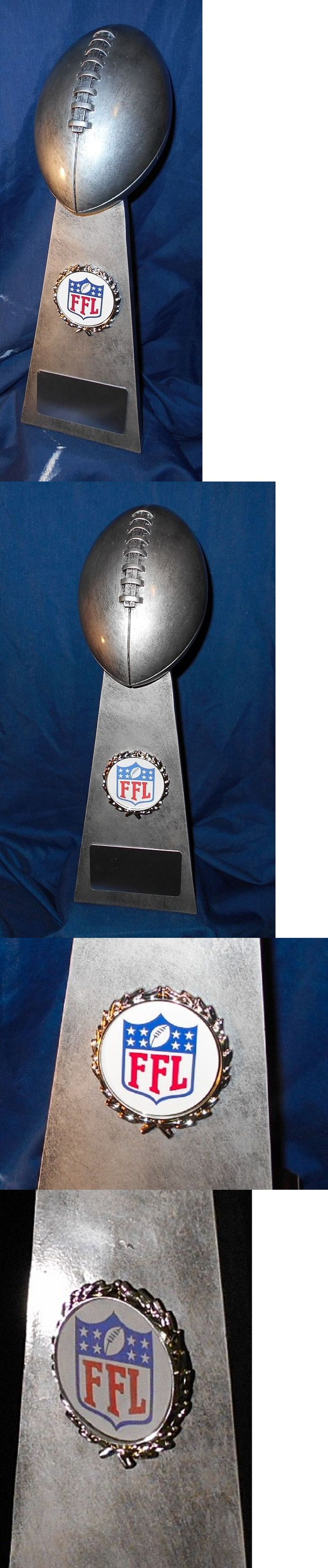 Other Football 2024: New Large 15 Fantasy Football Trophy Lombardi Free Engraving -> BUY IT NOW ONLY: $50 on eBay!