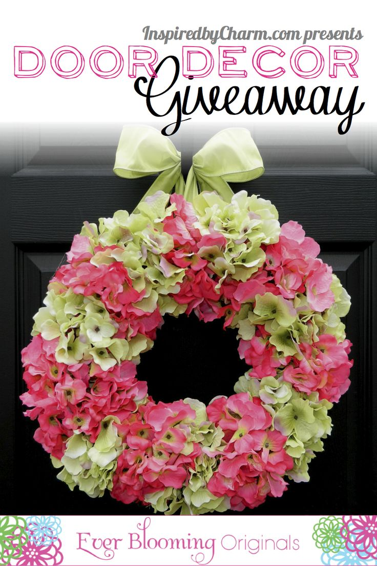 Enter to win a beautiful and unique creation for your door from Ever Blooming Originals!!   Just click the wreath to enter to win at Inspired by Charm