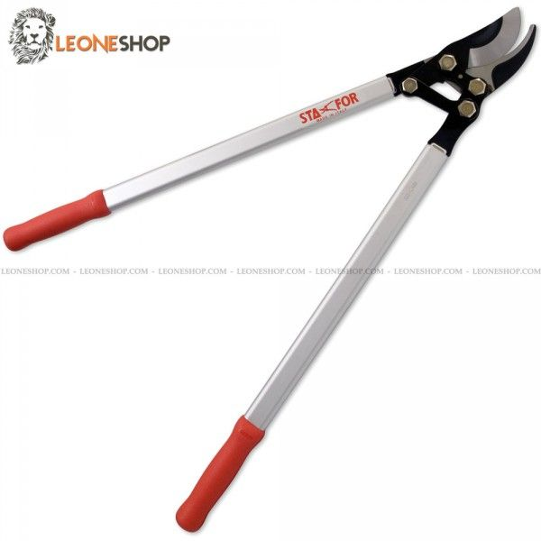 "STAFOR By-Pass Lopping Shears STF-808, gardening loppers and pruning lopping shears of High Carbon Steel Replaceable blade and anvil blade of high quality with Black Coating surface treatment ​​- Lever Device to increase the cutting force - By-Pass Device ideal for cutting large branches - Wide opening - Cutting capacity 2"" - Handles made with Anodized Aluminum with ergonomic non-slip plastic material and equipped with rubber shock absorber bumpers - Screw-bolt, pivots and lever device...."