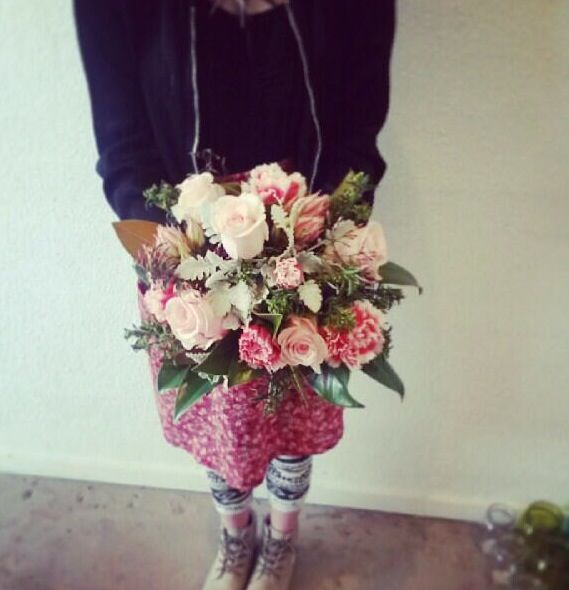 Picture taken from First Impression Flowers Instagram. Cute as floral posy I made