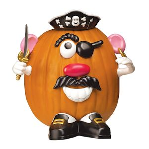 pirate mr potato head pumpkin decorating kit is perfect for toddlers, preschoolers and kindergarteners