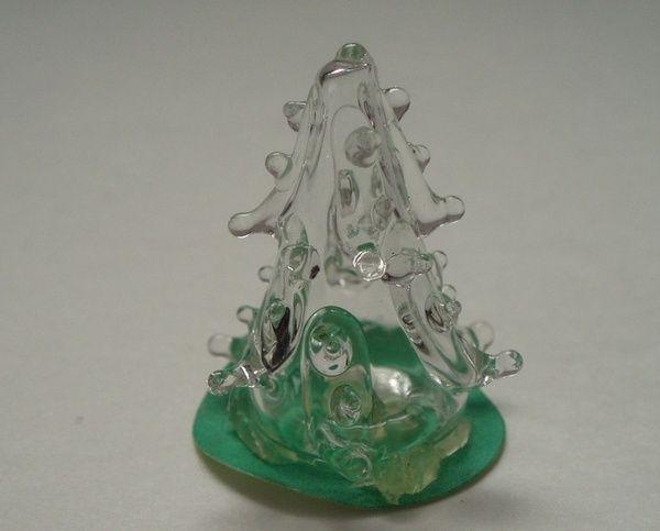 Dollhouse Miniature hand blown glass tabletop Christmas Tree