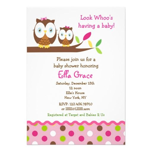 owl baby shower invitations girl themed baby showers babies and