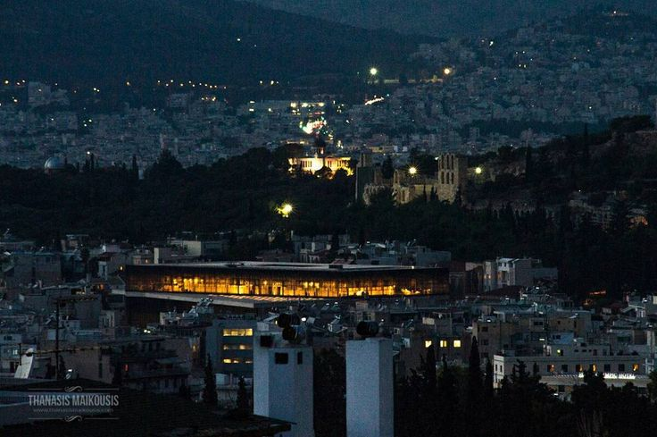 The Acropolis Museum as seen from Vironas in Athens Greece. Shot from my rooftop using a Nikon D3s and a Nikorr 300mm f/4  #pttlgr #photocontestgr #instalifo #amazing #travel_greece #instatravel #instago #love #Vironas #Greece #city #travel #traveling #visiting #instatravel #instago #architecture #building #town #house #cityscape #outdoors #evening #light  #landscape #urban #dusk #sky #tourism #acropolismuseum
