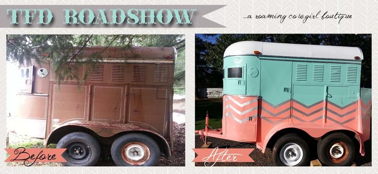 Old 2 Horse Trailer Makeover Show Horses Horses Horse