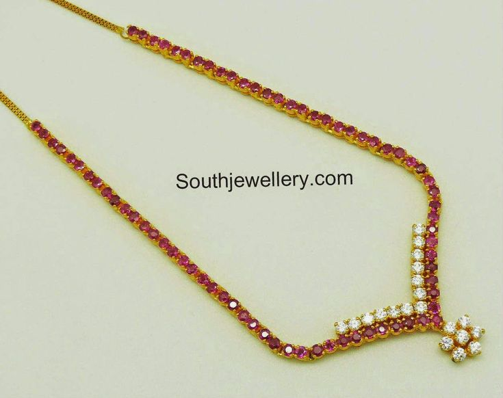 simple ruby necklace designs