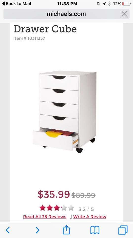 IKEA Alex Drawer Dupe