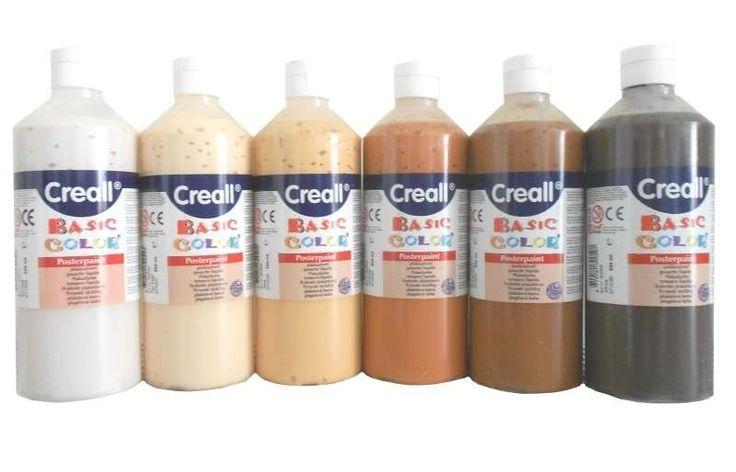 Verfset huidskleuren Creall (6st)