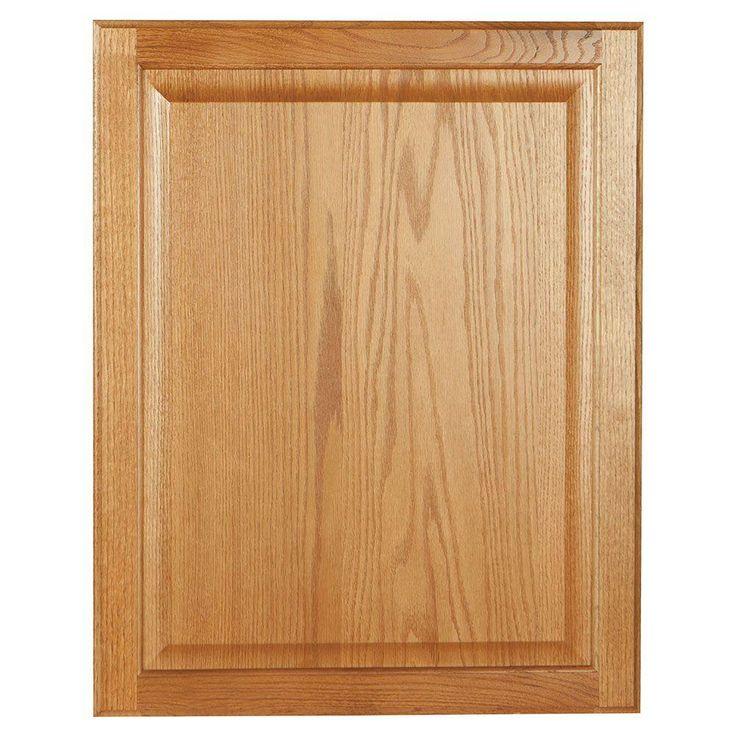 22x27.375x0.625 in. Hampton Decorative End Panel in Medium Oak
