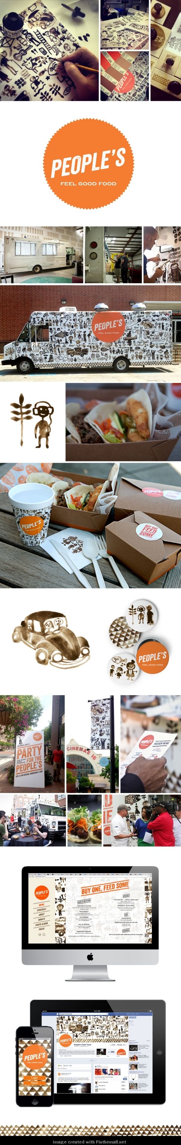 The rocket pizza food truck grits grids - People S Food Truck By Samira Rahimi Via Behance Love The Way That They Have Packaged The Food