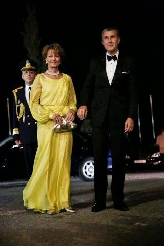 Crown Princess Margarita and Prince Radu of Romania arrive at the Yacht Club of Greece in Piraeus, near Athens, on 18.09.2014. To celebrate Golden wedding anniversary of Former King Constantine II of Greece and former Queen Anne-Marie of Greece with royals from all over Europe.