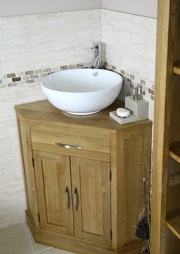 Bad Unterschrank In Der Ecke Anbringen Interessante Interieur Losungen Kleines Bad Waschbecken Badezimmer Waschbecken Badezimmer
