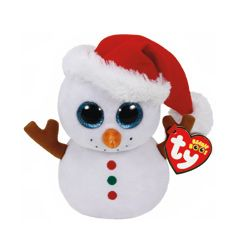 TY Beanie Boo Small Scoops the Snowman Plush Toy