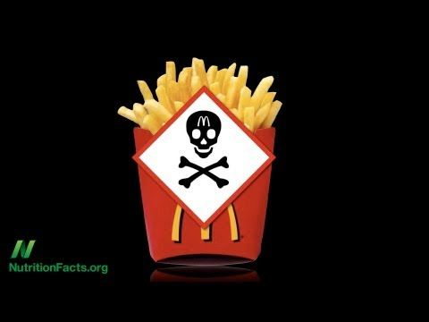 """""""Acrylamide in French Fries"""" - by Dr. Michael Greger- Human studies on whether acrylamide in baked and fried carbohydrates may be carcinogenic."""