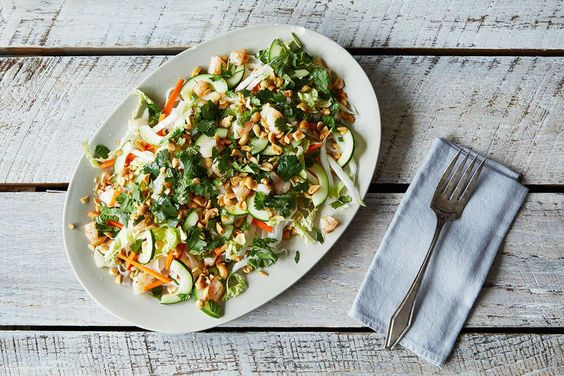 Salmon with a Thai Curry Sauce + Rice Noodle Salad on Food52