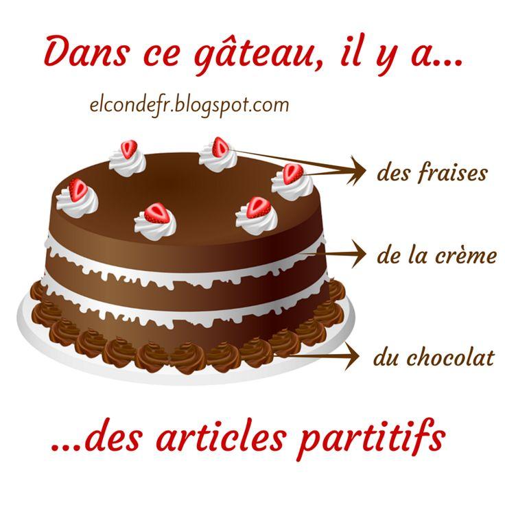 El Conde. fr: Le gâteau aux articles partitifs