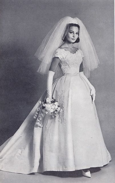 lace overlay gown for 1960s bride | Flickr | Wedding ...