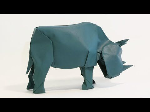 How to make an Origami Rhinoceros - YouTube