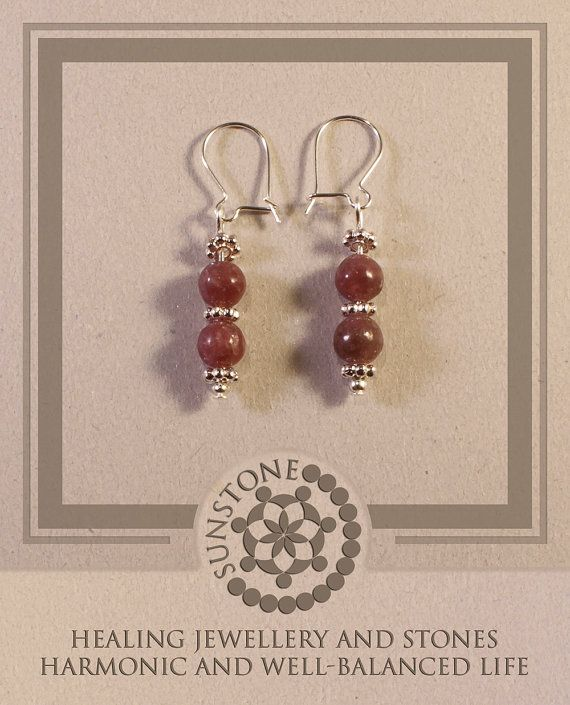 Tourmaline Gemstone Earrings with Tibetan Beads by SunstoneCraft, £8.00