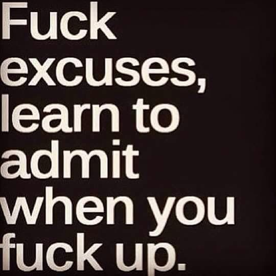 F--- excuses