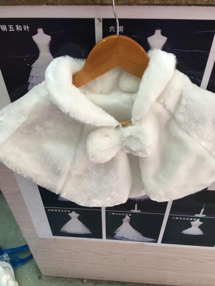 Flower girl child winter wedding coat fur children s bolero ivory wedding cape little girls warm. Click visit to buy #WeddingAccessories