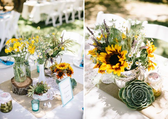 Best rustic sunflower centerpieces ideas on pinterest