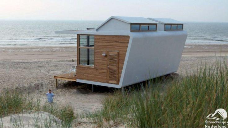 Neue Strandhäuser im erneuten Badeort Cadzand-Bad am schönen natürlichen Strand. Gemütliche romantische Strandhäuser. Nahe Badeort Cadzand-Bad.