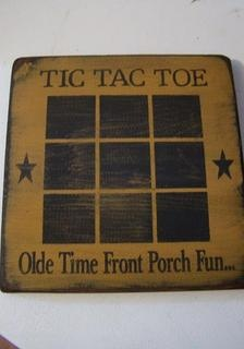 Tic, Tac, Toe Game Board.  I will be making one of these.