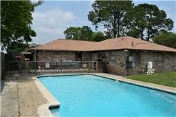 9722 Fonville Dr. Houston, Tx. 77075. Welcome to your new home with swimming pool, large extended patio, and more! This lovely 3 bedroom home boasts wood-like tile flooring throughout, fresh paint throughout interior, 2 year old roof, updated fixtures throughout, spacious secondary bathroom, no side neighborhood on one side and more! Extra storage space in back yard area fenced off from the rest of the yard. 2 car garage, swimming pool and spacious yard space for play left!