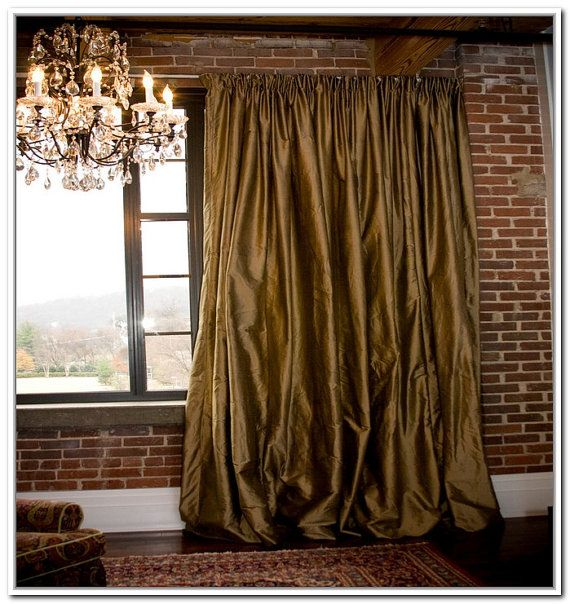 COPPER SILK Vorhang, Dupionseide, Window Dressing, drapieren, Wohnkultur, Inneneinrichtung, Fensterbehandlung