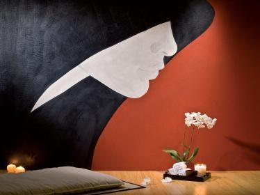 This wall was made by an of artist who's name is Marino by using Giorgio Graesan & friends product Segui il tuo Istinto #giorgiograesan #postiglione #bervicato #seguiiltuoistinto #arte #art #painting #wallpaint #pittura #muro #decoration #interiordesign