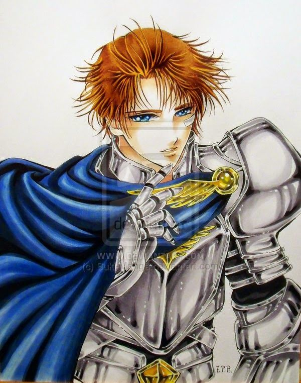 Copic Marker Europe: A handsome manga style knight ^___^