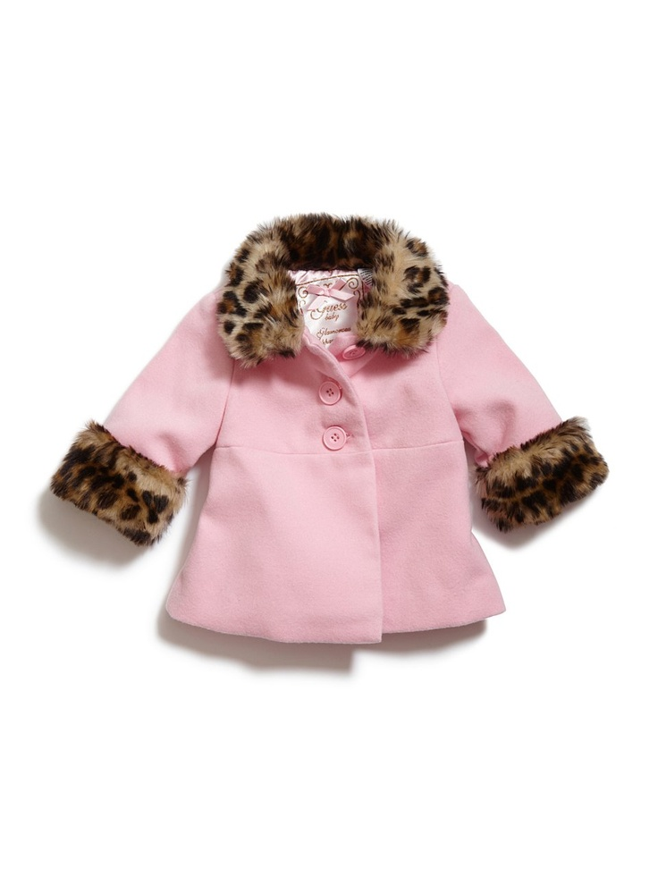 GUESS Jacket With Faux-Leopard Trim