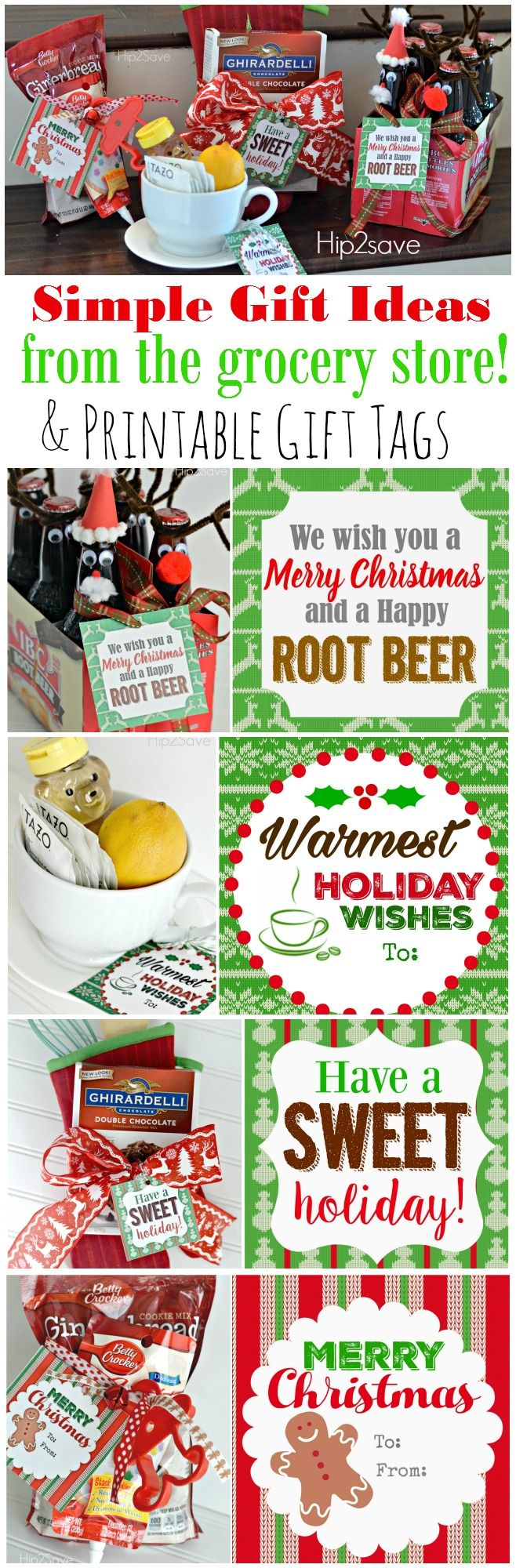FOUR Easy and Affordable Holiday Gift Ideas (PLUS, Free Printable GiftTags)