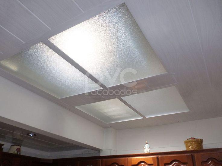 Cielo raso en pvcielo con tragaluz cielo raso - Ideas para techos ...