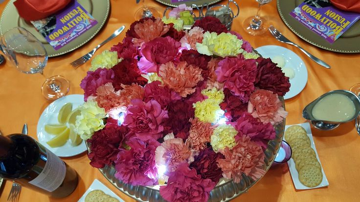 Carnation Centerpiece with uplifting.